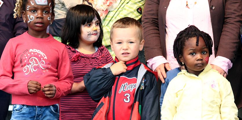 Familienfest 2013 - geschminkte Kinder